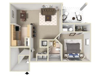 Rosemont II Floor Plan at Ashton Creek Apartments in Chester VA, opens a dialog