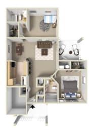 Fairmont III Floor Plan at Ashton Creek Apartments in Chester VA, opens a dialog