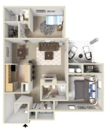 Fairmont II Floor Plan at Ashton Creek Apartments in Chester VA, opens a dialog