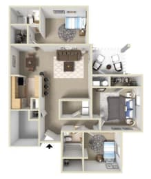 Westover III Floor Plan at Ashton Creek Apartments in Chester VA, opens a dialog