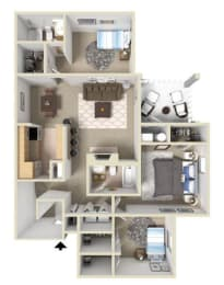 Westover II Floor Plan at Ashton Creek Apartments in Chester VA, opens a dialog
