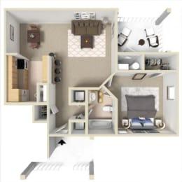 Rosemont I Floor Plan at Ashton Creek Apartments in Chester VA, opens a dialog