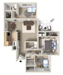 Westover I Floor Plan at Ashton Creek Apartments in Chester VA, opens a dialog