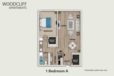 Floor Plan 1 Bedroom, opens a dialog
