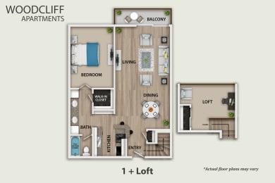 Floor Plan 1 + Loft, opens a dialog