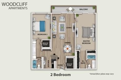 Floor Plan 2 Bedroom, opens a dialog