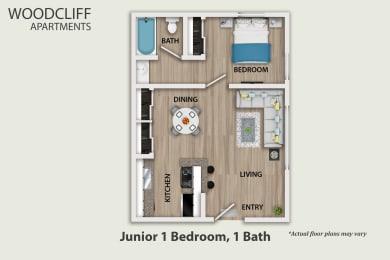 Floor Plan 1 Bedroom Small, opens a dialog