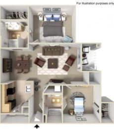 Rapallo Apartments Milano 2 bedroom floor plan, opens a dialog