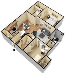 Rapallo Apartments Milano B floor plan, opens a dialog