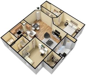 Rapallo Apartments Naples floor plan, opens a dialog
