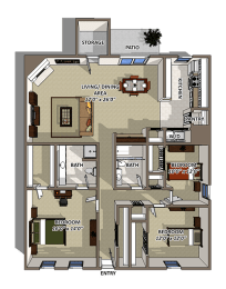 The Cascade Premium Floorplan at Reserve At Barry, opens a dialog