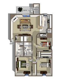 The Riverton Floorplan at Reserve At Barry, opens a dialog