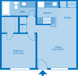 The Springs 1 Bedroom Floor Plan The Cove, opens a dialog