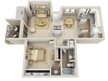 Floor Plan 1 Bed / 1 Bath, opens a dialog