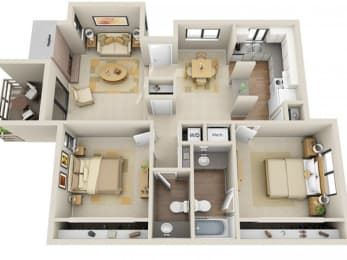 Floor Plan 2 Bed / 1.5 Bath, opens a dialog