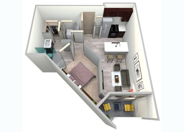 Royal Floor Plan at Azure Houston Apartments, Texas, opens a dialog