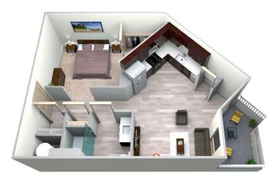 Cobalt Floor Plan at Azure Houston Apartments, Texas, 77007, opens a dialog