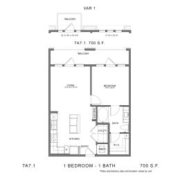 Floor Plan 7A7.1, opens a dialog