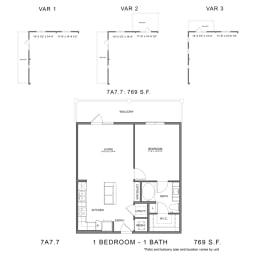 Floor Plan 7A7.7, opens a dialog