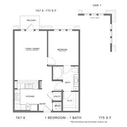Floor Plan 7A7.8, opens a dialog