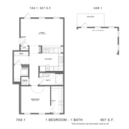 Floor Plan 7A9.1, opens a dialog