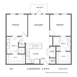 Floor Plan 7B1, opens a dialog