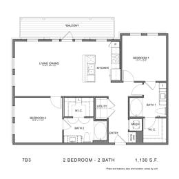 Floor Plan 7B3, opens a dialog
