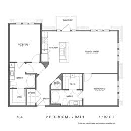 Floor Plan 7B4, opens a dialog