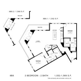 Floor Plan 8B8, opens a dialog