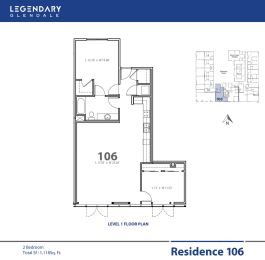 Legendary Glendale Floor Plan 106, at, opens a dialog