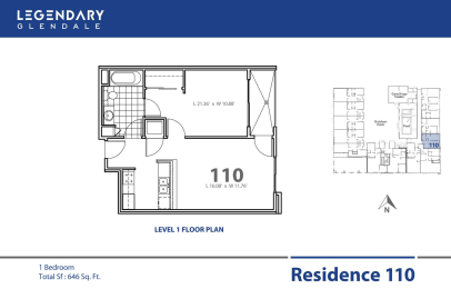 Floor Plan 110 at Legendary Glendale Luxury Apartment Homes on 300 N Central Ave, opens a dialog