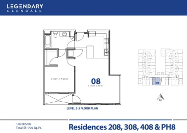 Floor Plan 08 at Legendary Glendale Luxury Apartments, at 300 N Central Ave, opens a dialog