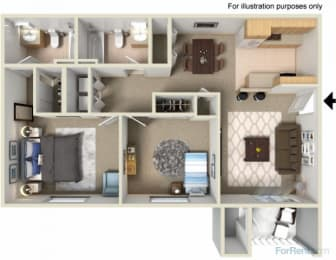 Creekside Apartments, opens a dialog