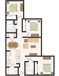 Floor Plan 3 Bedroom, opens a dialog