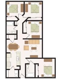 Floor Plan 4 Bedroom, opens a dialog