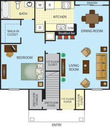 Ponce Harbor One Bedroom One Bath Apartment Home, opens a dialog