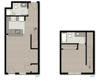 Townhome TH2 FloorPlan at The Corydon, Seattle, WA, 98105, opens a dialog