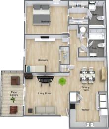 Floor Plan 2 Bedroom 2 Bathroom, opens a dialog