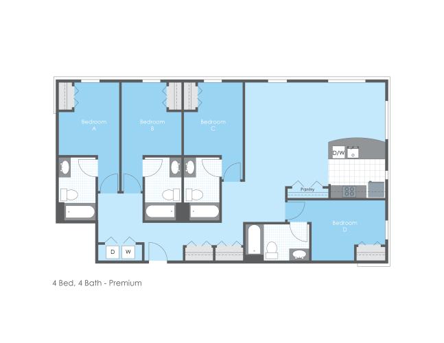 Floor Plan  4 Bed 4 Bath, Premium, opens a dialog.