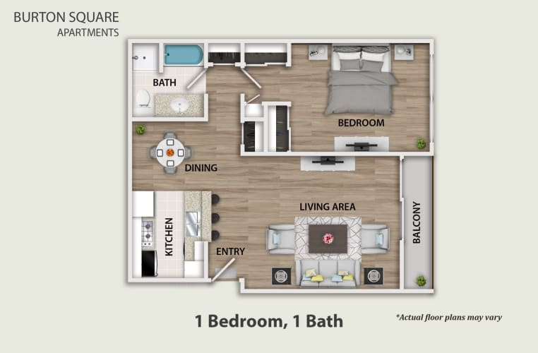 Floor Plan  One Bedroom, One Bath, opens a dialog.