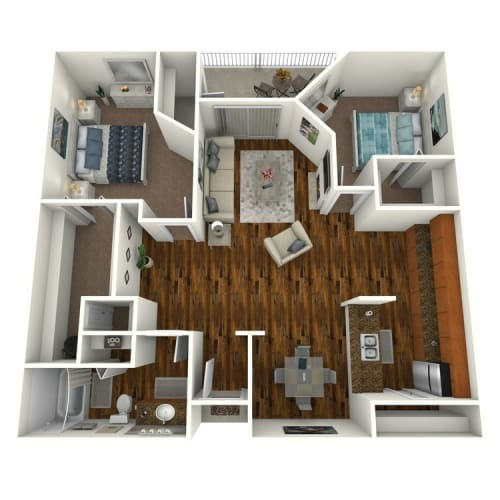 Floor Plan  The Altitude at Blue Ash Reserve One Bedroom Floor Plan, opens a dialog.