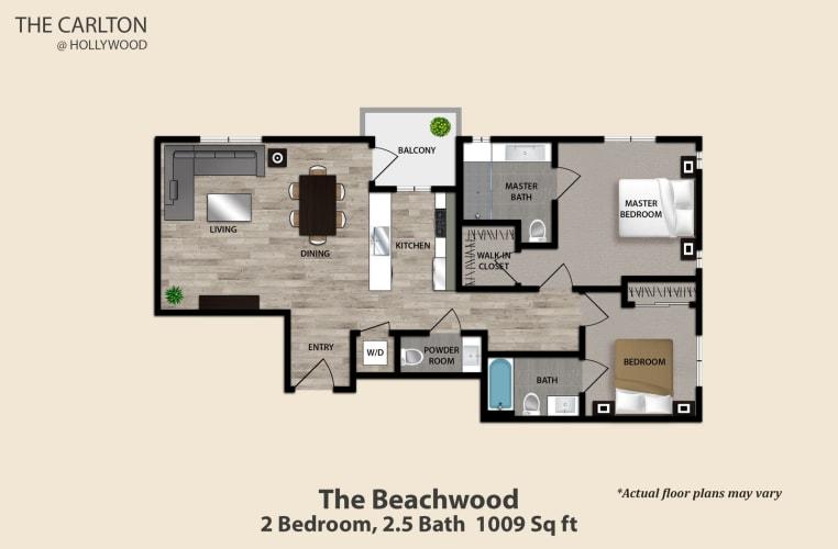 Floor Plan  The Beachwood, opens a dialog.