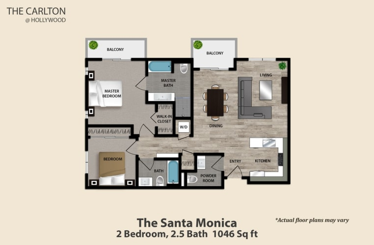 Floor Plan  The Santa Monica, opens a dialog.
