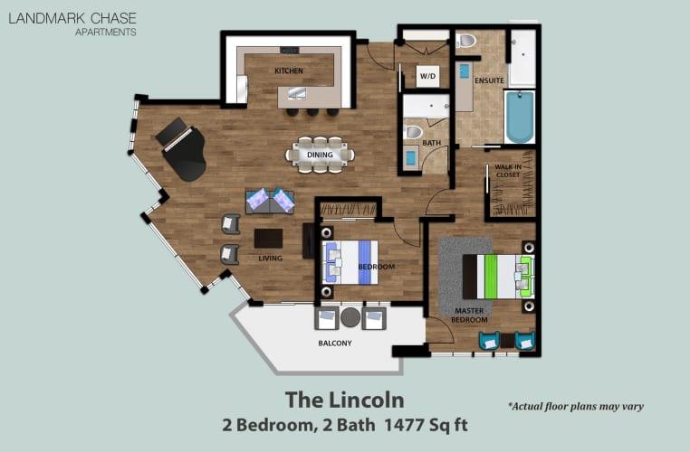 Floor Plan  The Lincoln, opens a dialog.