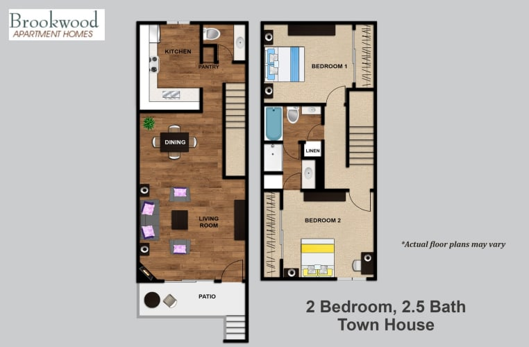 Floor Plan  2 Bedroom Townhouse