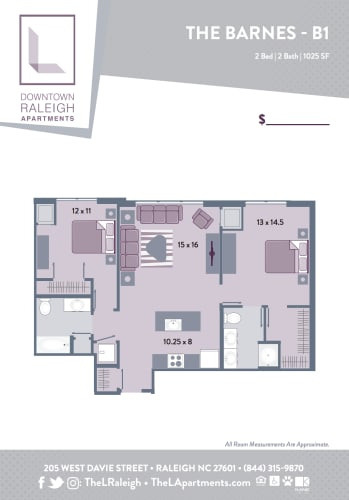 Floor Plan  The L - Downtown Raleigh Apartments, opens a dialog.