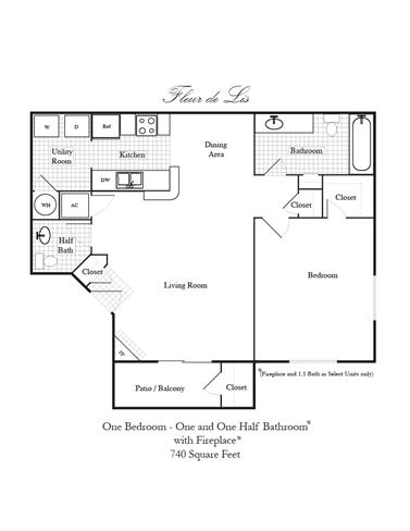 Floor Plan  Fleur de Lis