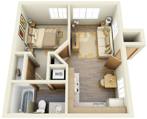 Floor Plan  One Bedroom A, opens a dialog.