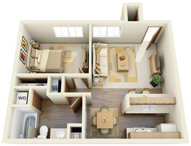 Floor Plan  One Bedroom B, opens a dialog.