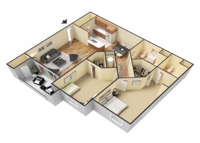 Floor Plan  The Santa Rosa floor plan. l Canyon Vista Apartments in Sparks NV, opens a dialog.